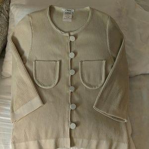 Chloe cream cotton cardigan